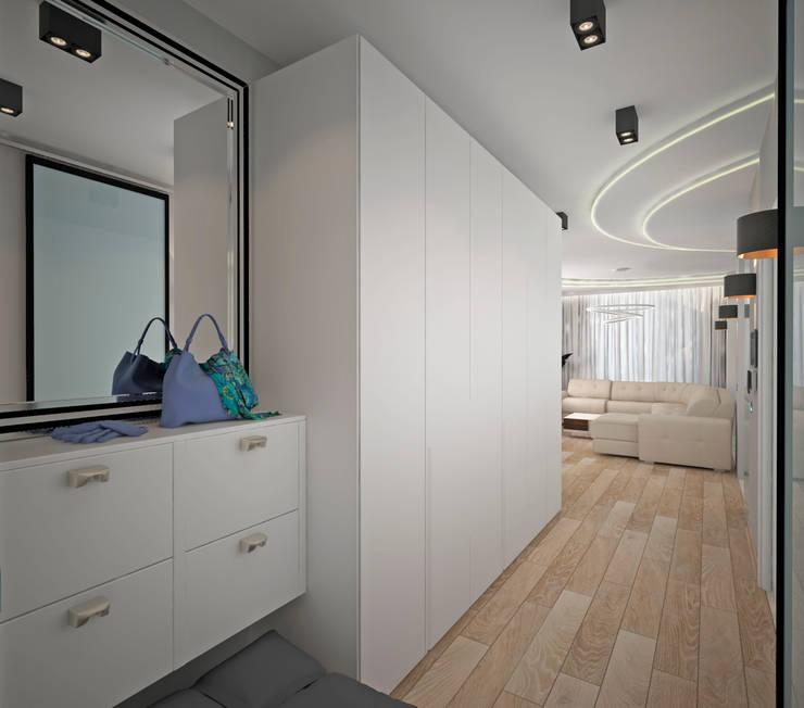 Четырехкомнатная квартира-студия в г.Новосибирске для семьи из четырех человек: Коридор и прихожая в . Автор – Гурьянова Наталья