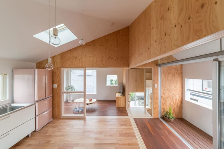 Dining room by 水石浩太建築設計室/ MIZUISHI Architect Atelier