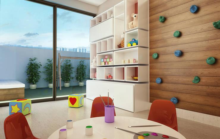 Brinquedoteca: Quarto infantil  por André Petracco Arquitetura