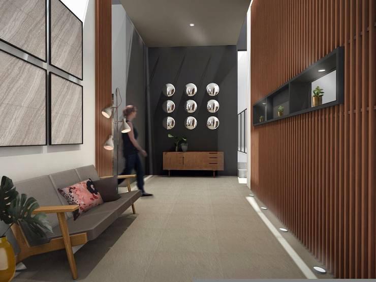 Vestíbulo: Pasillos y recibidores de estilo  por Constructora e Inmobiliaria Catarsis