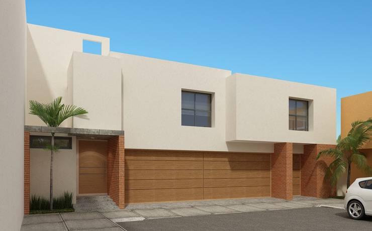 Fachada Principal: Casas de estilo  por Constructora e Inmobiliaria Catarsis