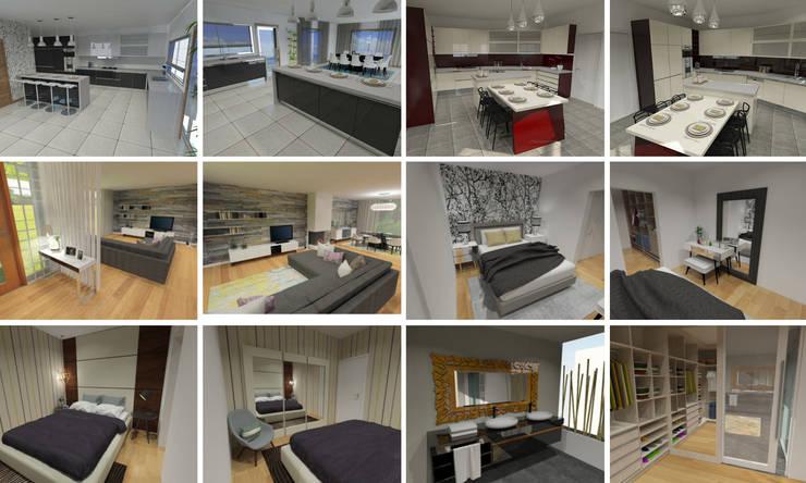 Projectos 3D: Casa  por Intense mobiliário e interiores;