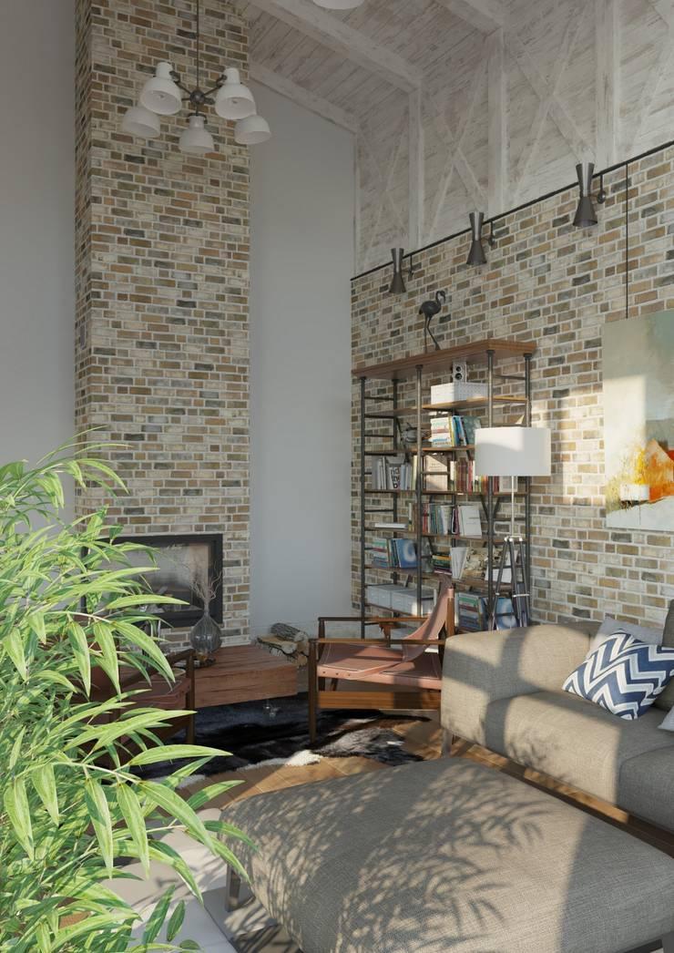 Salon industriel par Studio of Architecture and Design 'St.art' Industriel