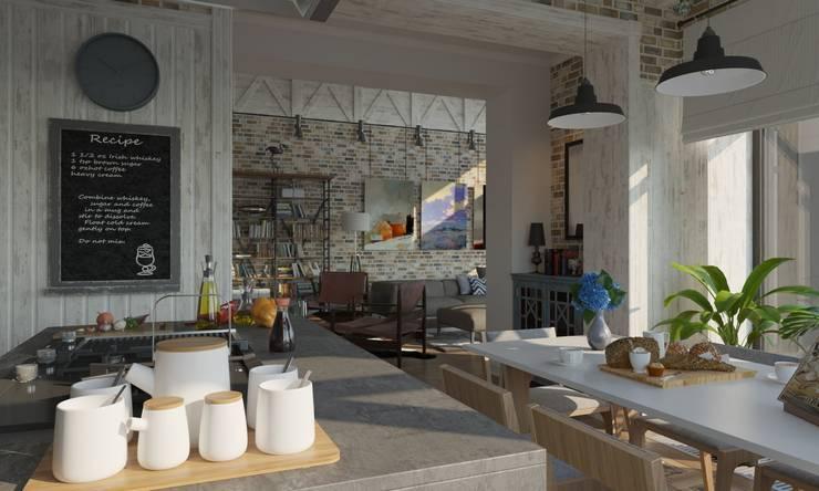 Cuisine industrielle par Studio of Architecture and Design 'St.art' Industriel