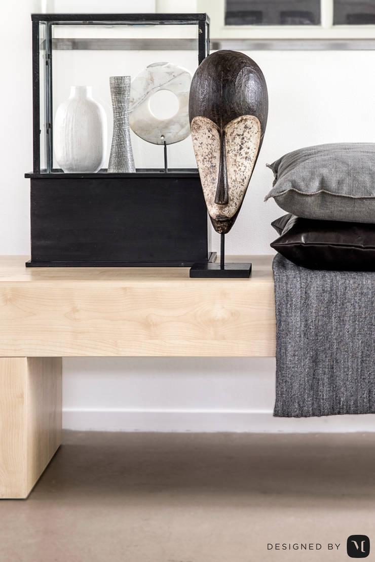 Eigen kantoor te Voorschoten:  Woonkamer door Mariska Jagt Interior Design, Modern