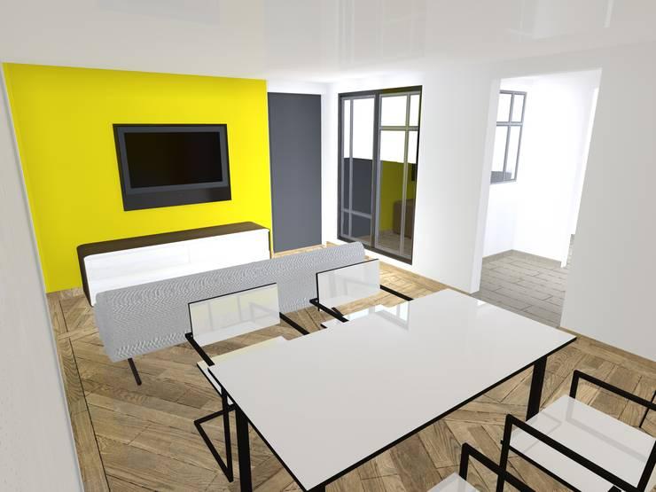 Sala Comerdor: Salas de estilo  por Wave Arquitectura
