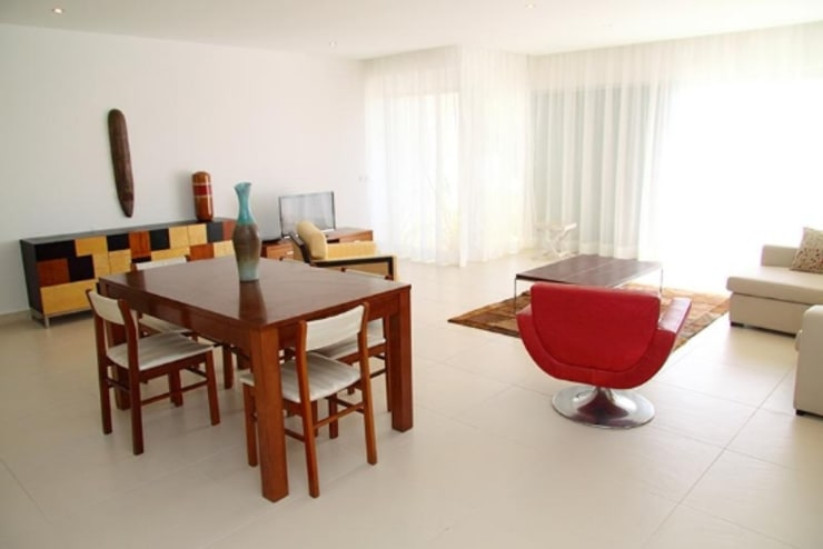 Villas Rocha 5: Salas de jantar  por Atelier  Ana Leonor Rocha