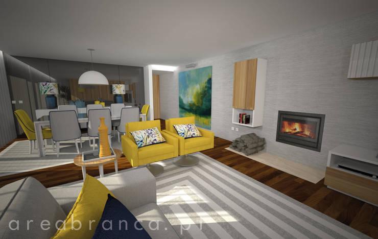 Sala : Salas de estar  por Areabranca