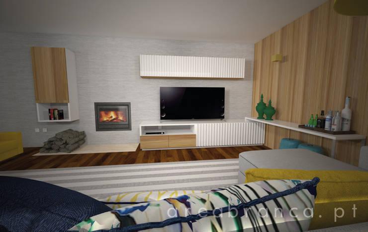 Móvel TV: Salas de estar  por Areabranca