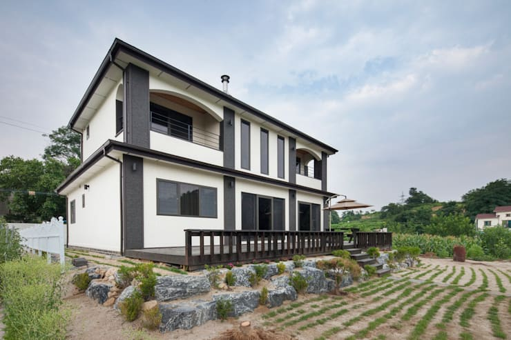 외부: 윤성하우징의  정원,모던