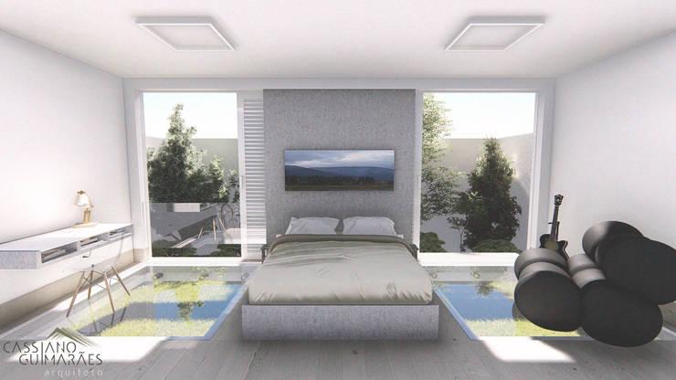 Recámaras de estilo minimalista por Cassiano Guimarães - arquiteto