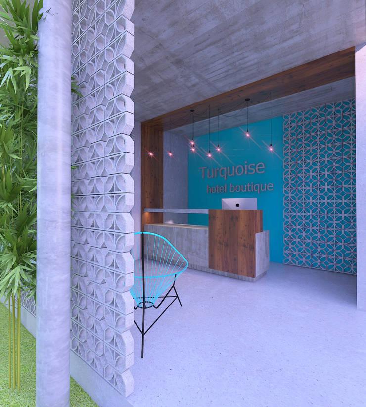 Recepción: Salas de estilo  por Hipercubo Arquitectura