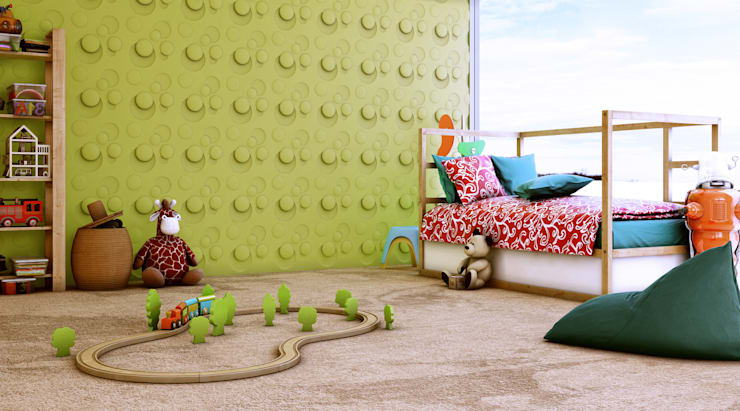 Recámaras infantiles de estilo escandinavo por Artpanel 3D Wall Panels