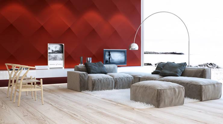 Salas de estilo moderno por Artpanel 3D Wall Panels