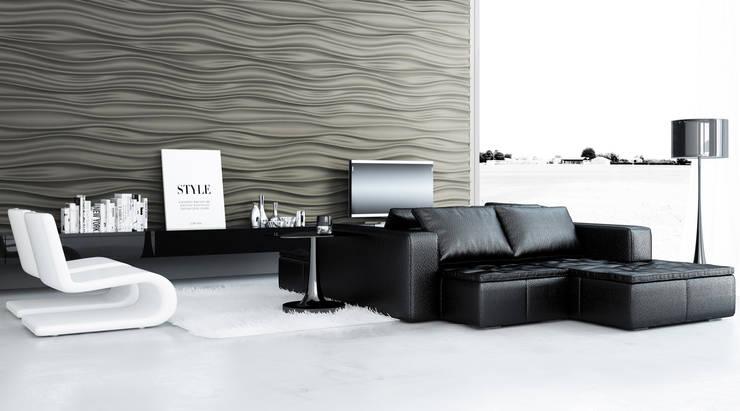 غرفة المعيشة تنفيذ Artpanel 3D Wall Panels
