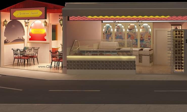 Restaurant Exterior View: modern  by Ghar360,Modern