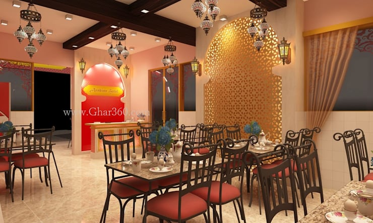 Restaurant Interior: modern  by Ghar360,Modern