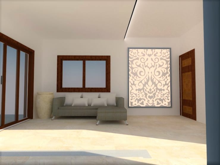 Lounge:  Living room by Urban Shaastra