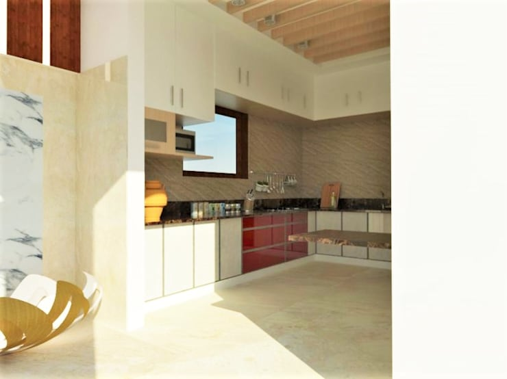 Open Kitchen:  Kitchen by Urban Shaastra