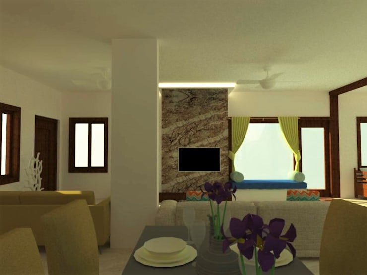 Living Area:  Living room by Urban Shaastra