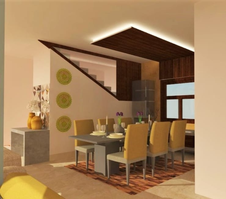 Dining Area:  Dining room by Urban Shaastra