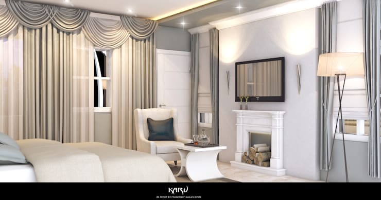 INTERIOR DESIGN:  Bedroom by KARU AN ARTIST,