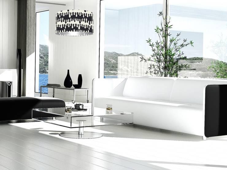 Living room by Ekotechnik24.pl - lampy na indywidualne zamówienie