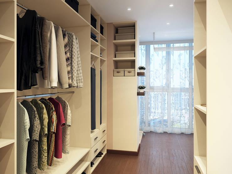 Alyona Musina: modern tarz Giyinme Odası