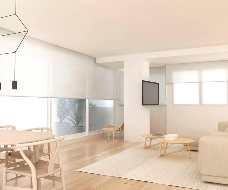 Dining room by Studio Transparente, Mediterranean Wood Wood effect
