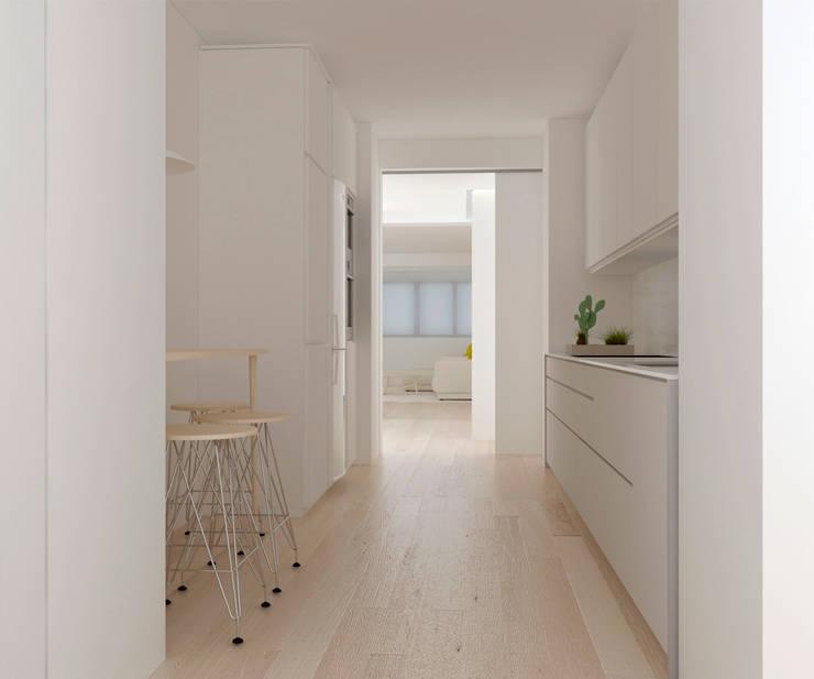 Kitchen by Studio Transparente, Mediterranean Engineered Wood Transparent