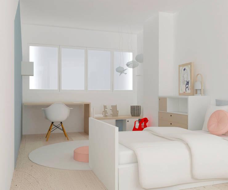 Nursery/kid's room by Studio Transparente, Mediterranean Wood Wood effect