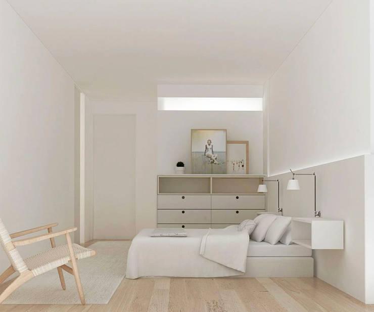 Bedroom by Studio Transparente, Mediterranean Wood Wood effect