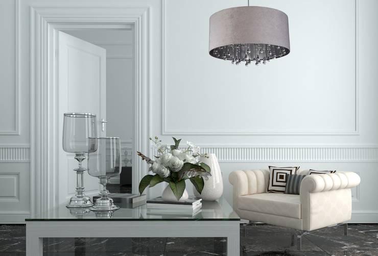 غرفة المعيشة تنفيذ Ekotechnik24.pl - lampy na indywidualne zamówienie