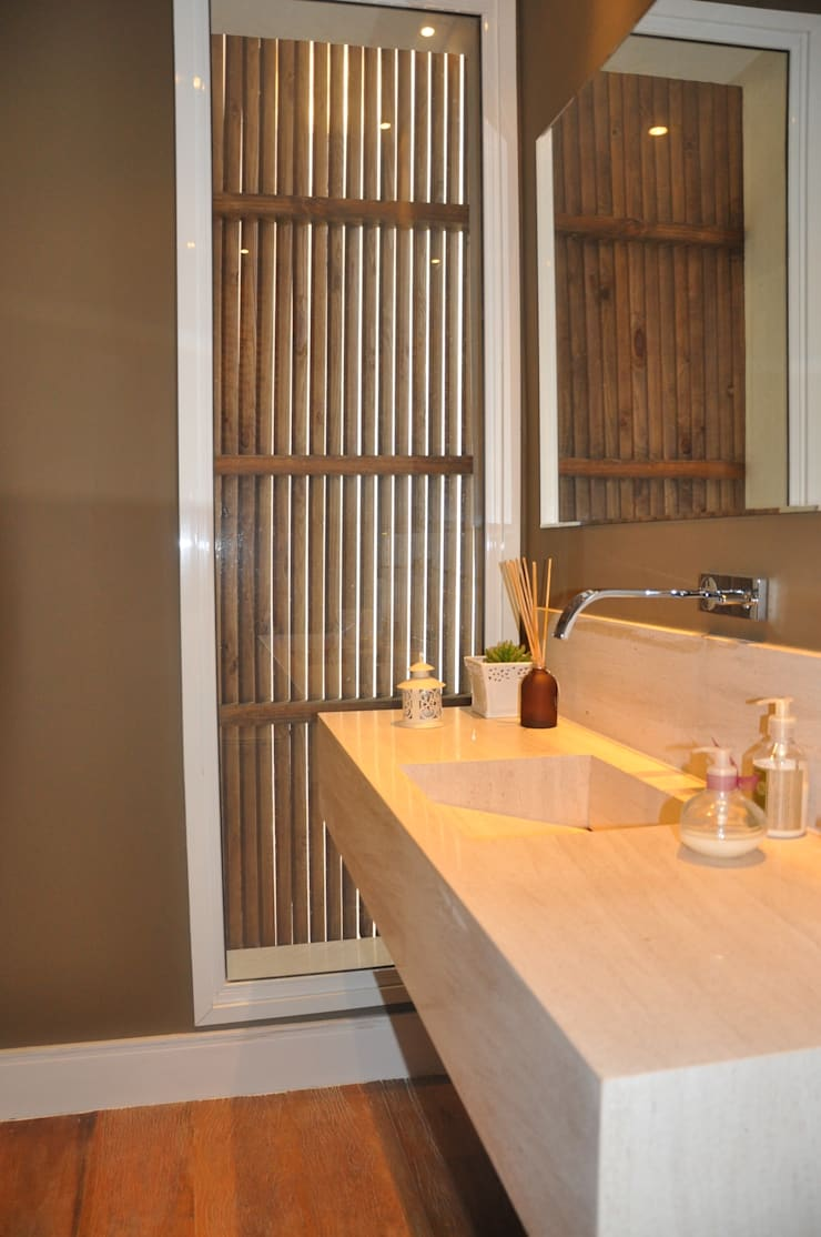 LAVABOS: Banheiros  por Clô Vieira Design de Interiores,