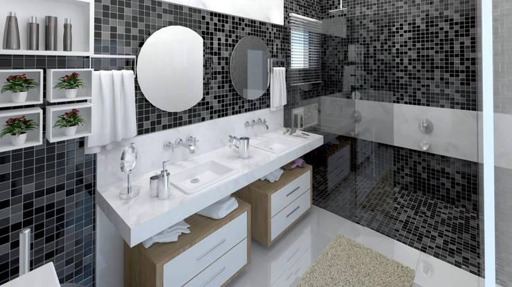 Baños de estilo  por LK Studio Arquitetura