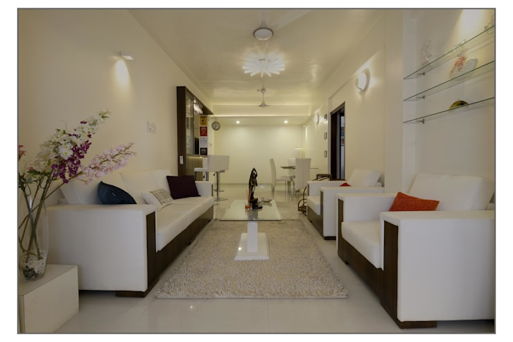 Living Room:  Bedroom by Navmiti Designs