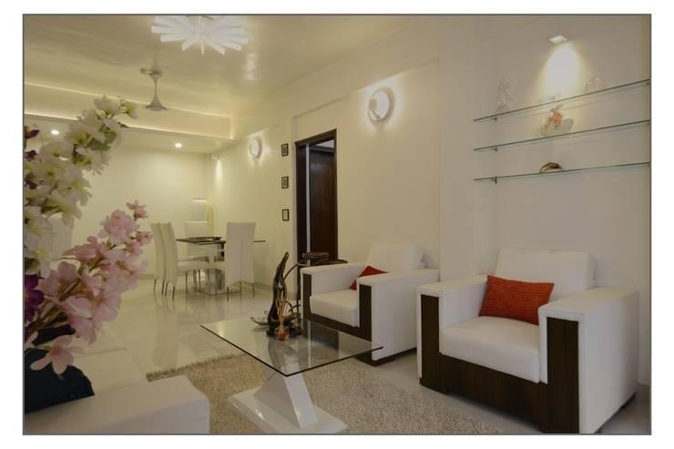 Residential Apartment on Bund Garden Road, Pune:  Terrace by Navmiti Designs
