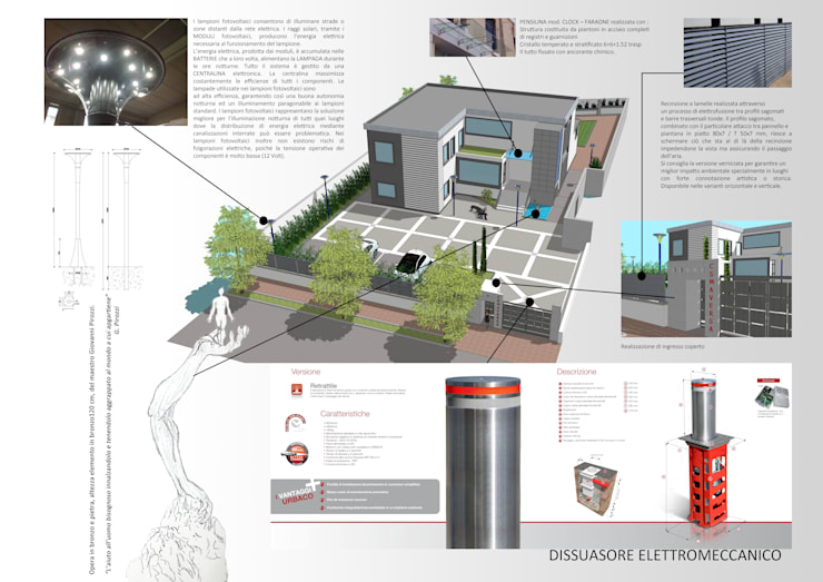 Casas de estilo moderno de Architetto Vincenzo CERULLO Moderno Hormigón reforzado