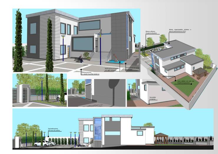 Casas de estilo moderno de Architetto Vincenzo CERULLO Moderno