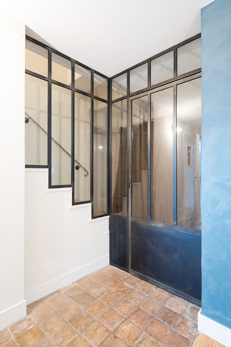 verri re d 39 angle avec porte coulissante par ox idee homify. Black Bedroom Furniture Sets. Home Design Ideas