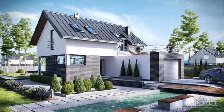 Projekt domu HomeKONCEPT-09: styl , w kategorii Domy zaprojektowany przez HomeKONCEPT | Projekty Domów Nowoczesnych