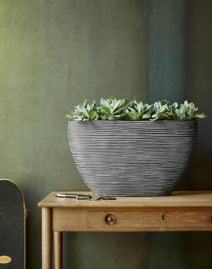 Capi Nature Indoor - Pot ovaal hoog Zwart:   door Capi Europe, Landelijk