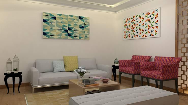 Sala de Estar: Salas de estar  por Maria Julia Faria Arquitetura e Interior Design