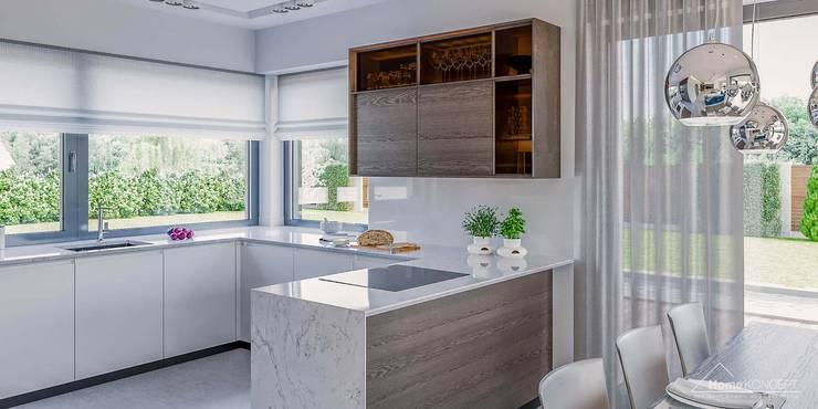 บ้านและที่อยู่อาศัย by HomeKONCEPT | Projekty Domów Nowoczesnych