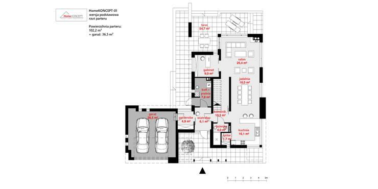 HomeKONCEPT | Projekty Domów Nowoczesnych:  tarz Evler