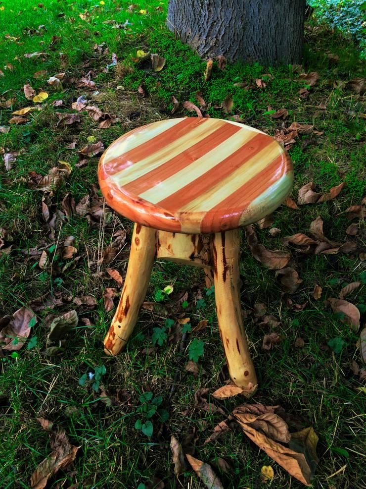 Coşkun Ahşap Dekorasyon – tabure (stool):  tarz , Rustik Ahşap Ahşap rengi