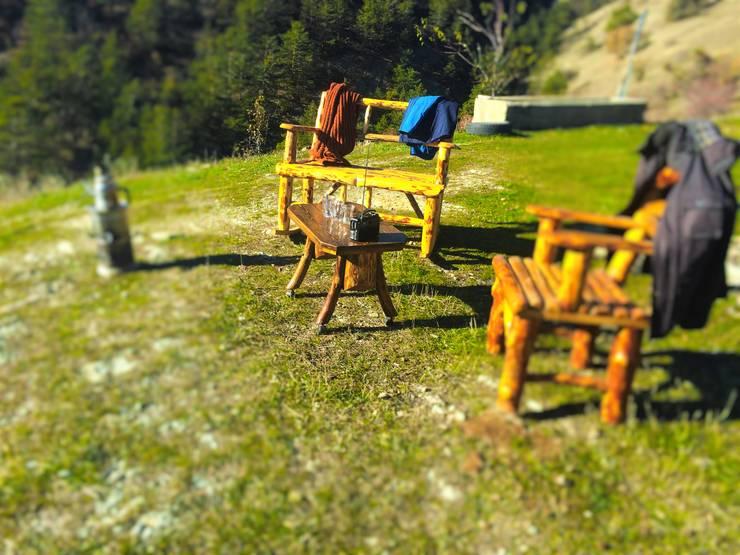 Coşkun Ahşap Dekorasyon – rustıc garden furniture/ doğal bahçe mobilyası:  tarz , Rustik Ahşap Ahşap rengi