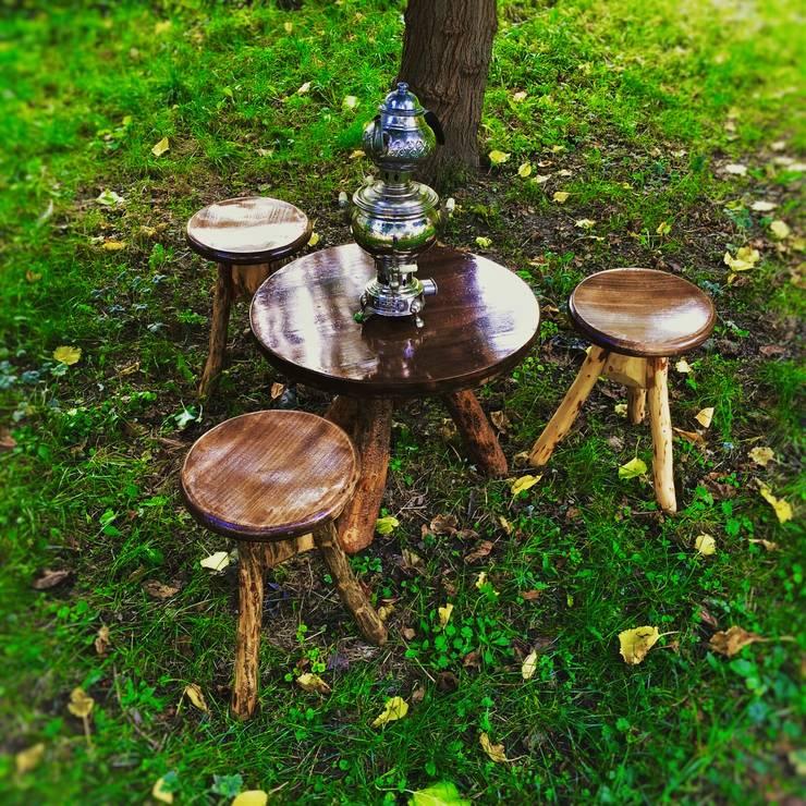 Coşkun Ahşap Dekorasyon – bahça mobilyası/garden furniture:  tarz , Rustik Ahşap Ahşap rengi