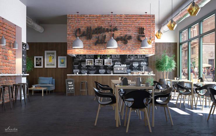 Progettazione del locale in toto, scelta dei materiali d'arredo, colori pareti e render 3d, Roma.: Bar & Club in stile  di Santoro Design Render