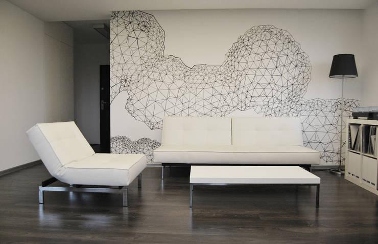minimalistische Wohnzimmer von Marta Wypych | pracownia projektowa